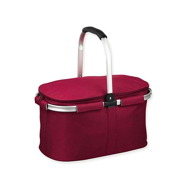 BASKIT - Polyester picnic thermobasket, 600D. - burgundy