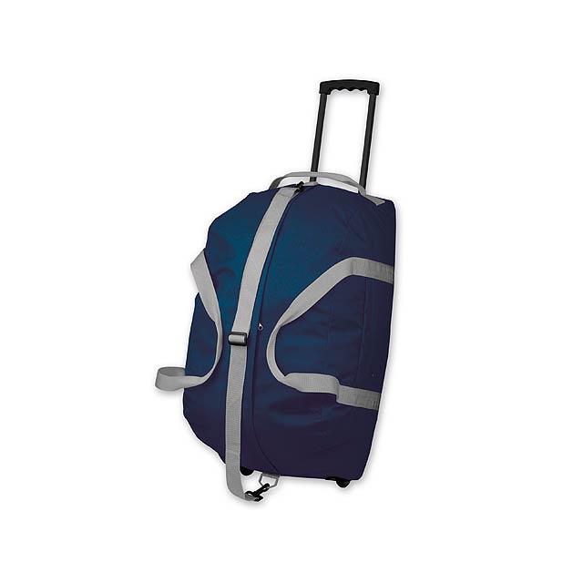 HILTON - polyesterová cestovní taška na kolečkách, 600D - modrá