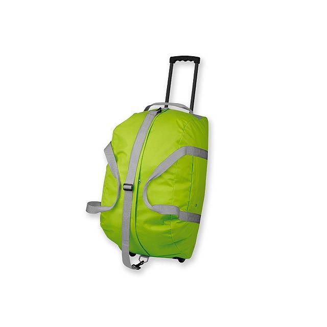 HILTON - polyesterová cestovní taška na kolečkách, 600D - zelená