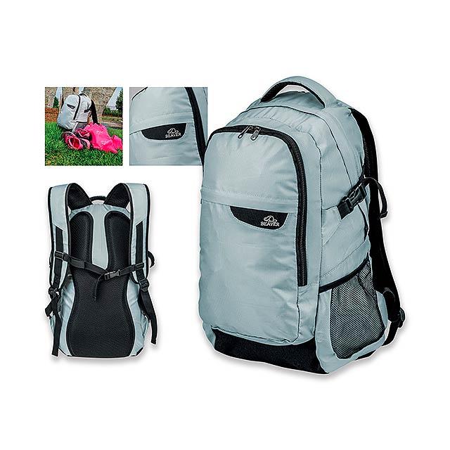 PONTE - polyesterový batoh, 600D, BEAVER - šedá