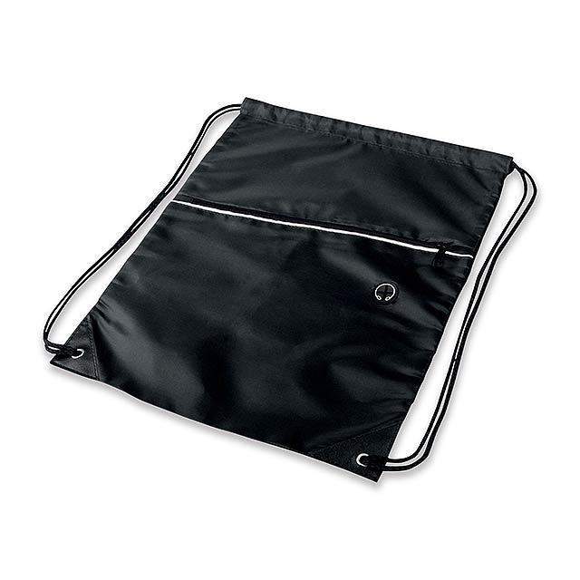 GARU - polyesterový stahovací batoh, 210D - černá