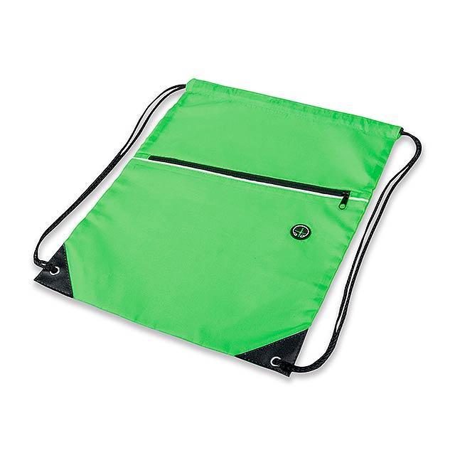 GARU polyesterový stahovací batoh, 210D, Světle zelená - zelená