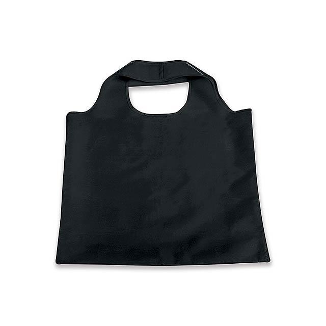 FOLA - polyesterová skládací nákupní taška - černá