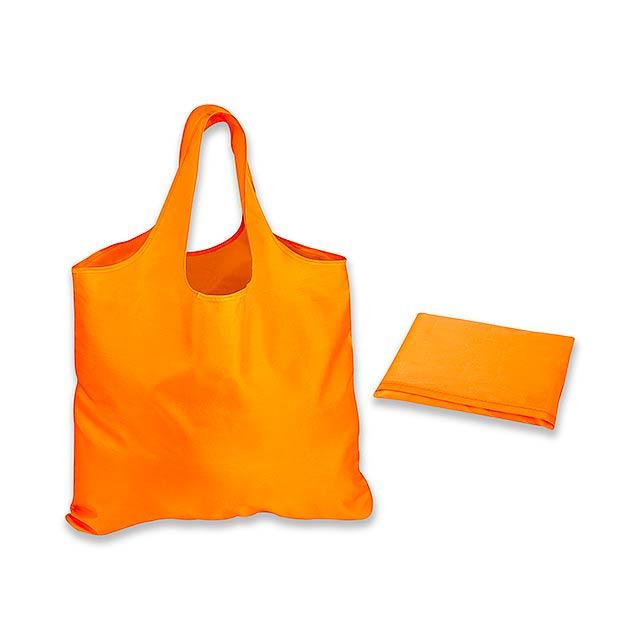 FOLA polyesterová skládací nákupní taška, Oranžová - oranžová