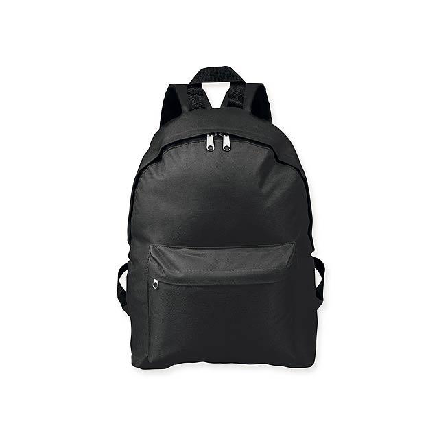 ELODIE - Polyesterový batoh, 600D. 1 hlavní a 1 doplňková kapsa objem 10 l.     - černá