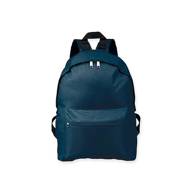 ELODIE - Polyesterový batoh, 600D. 1 hlavní a 1 doplňková kapsa objem 10 l.     - modrá