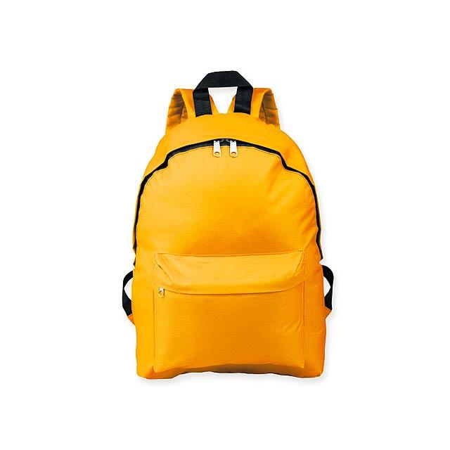 ELODIE - Polyesterový batoh, 600D. 1 hlavní a 1 doplňková kapsa objem 10 l.     - žlutá