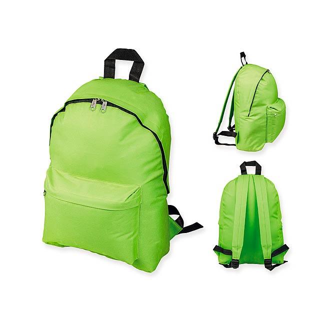 ELODIE - Polyesterový batoh, 600D. 1 hlavní a 1 doplňková kapsa objem 10 l.     - citrónová - limetková
