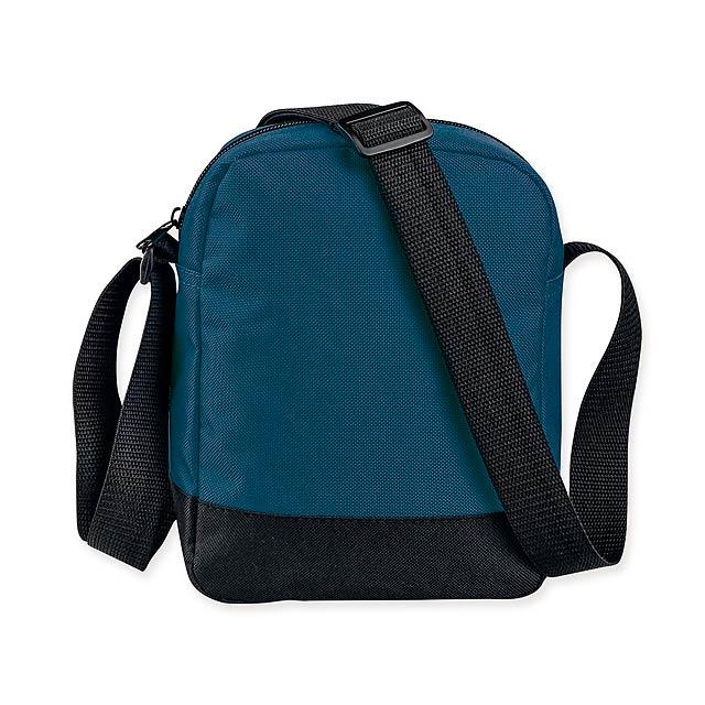 EDDY - Polyesterová taška s popruhem přes rameno, 600D. 1 hlavní a 2 doplňkové kapsy.    - modrá