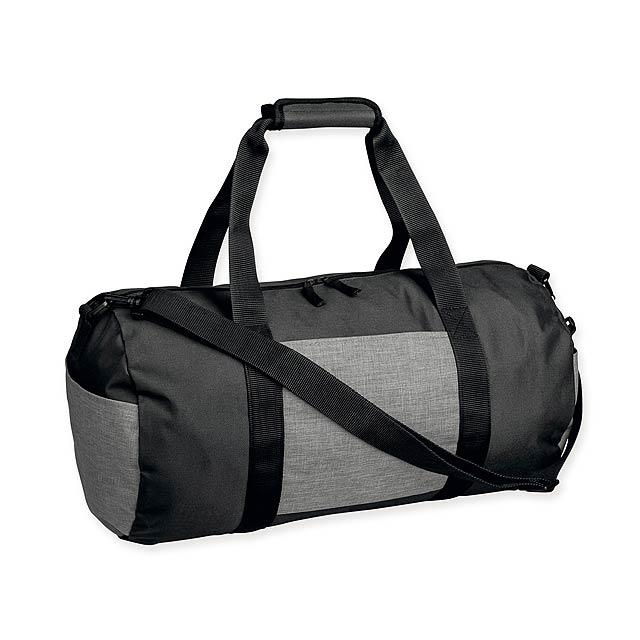 NILS - Polyesterová cestovní taška s popruhem přes rameno, 600D. 1 hlavní a 3 doplňkové kapsy.   - šedá