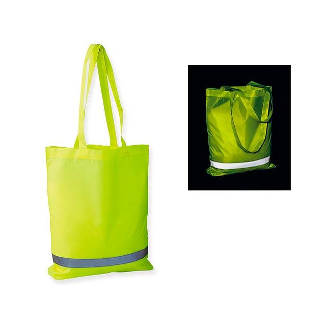 FINNO - Polyesterová nákupní taška s reflexním pruhem, 210D.          - žlutá