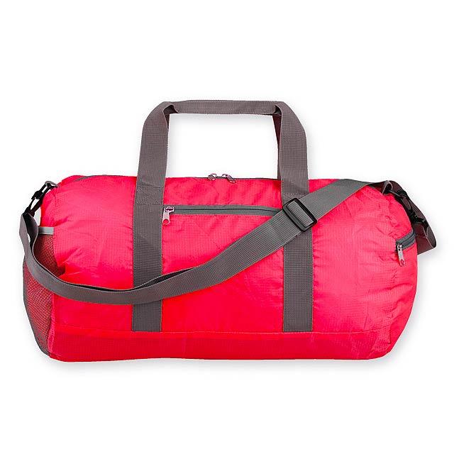 JOSIE skládací sportovní taška, 190T RIPSTOP/polyester, Červená - červená