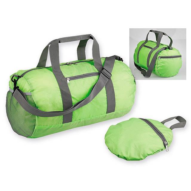 JOSIE skládací sportovní taška, 190T RIPSTOP/polyester, Světle zelená - zelená
