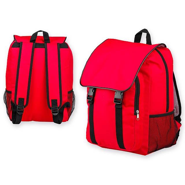 HEDY polyesterový batoh, 600D, Červená - červená