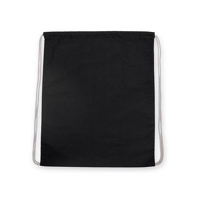 SAC bavlněný stahovací batoh, 180 g/m2, Černá - černá