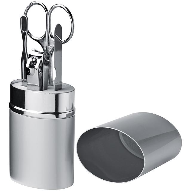 Exkluzivní 4-dílná manikúra - šedá
