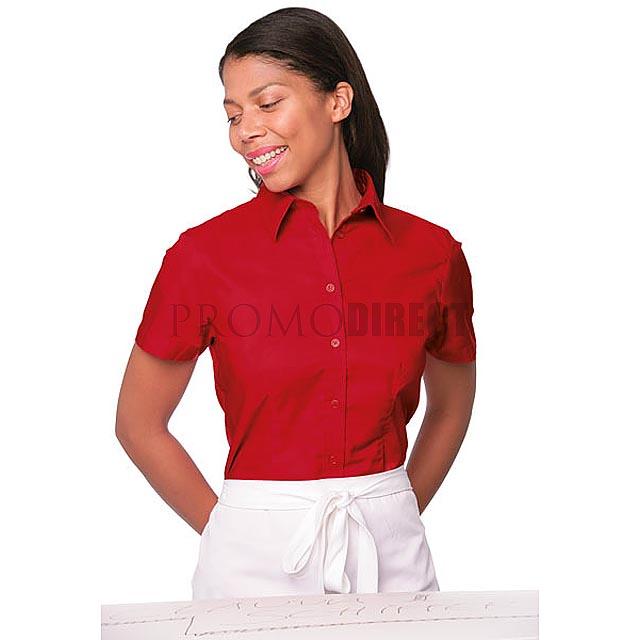 Kustom Kit - dámská košile krátký rukáv - černá