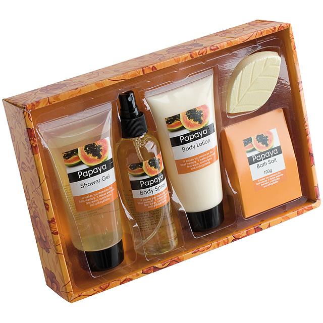 Kosmetická sada (4) - oranžová