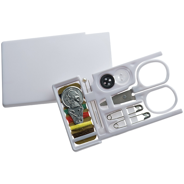 Travel sewing kit - white