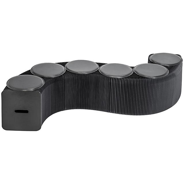 Lavička z papíru - černá