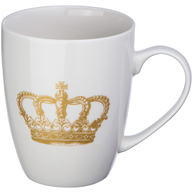 Cup with crown print - foto