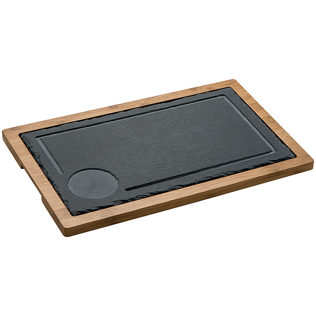 Serving Board, slate/wood - black