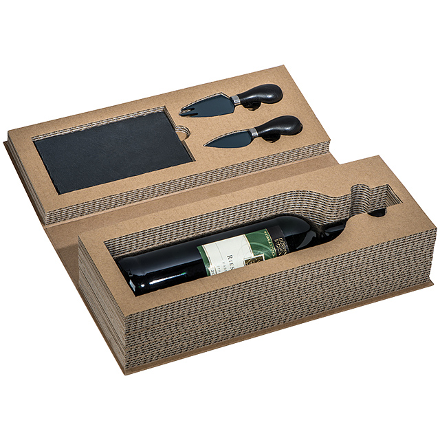 Wine and cheese set - black