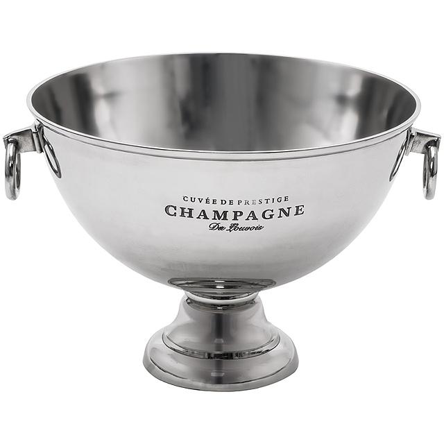 Chladicí nádoba na šampaňské, velká - šedá