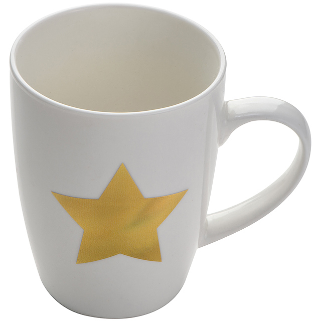 Cup with star print - white