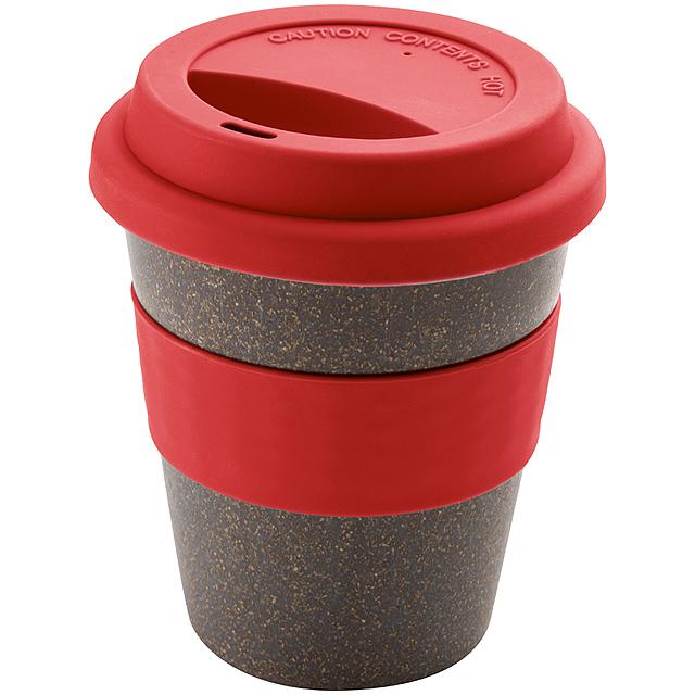Bambusový pohár - červená