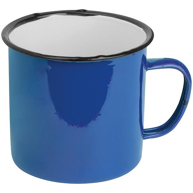 Smaltovaný hrnek - modrá