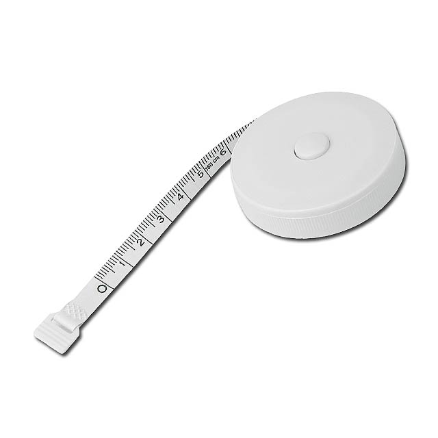 TAYLOR - Tailor plastic tape measure with stopping, 1,5 m - white