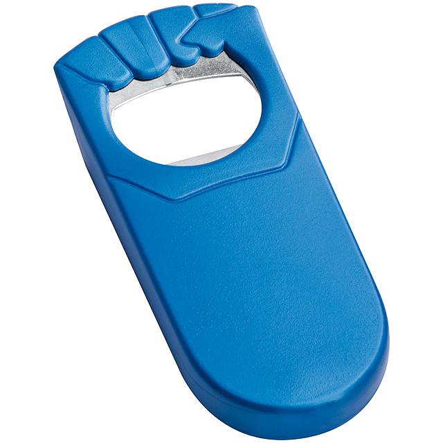 Plastový otvírák lahví - modrá