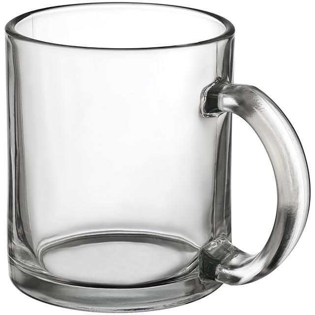 Hrnek na kávu ze skla - transparentní