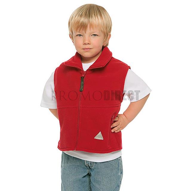 Result - dětská fleece vesta - šedá