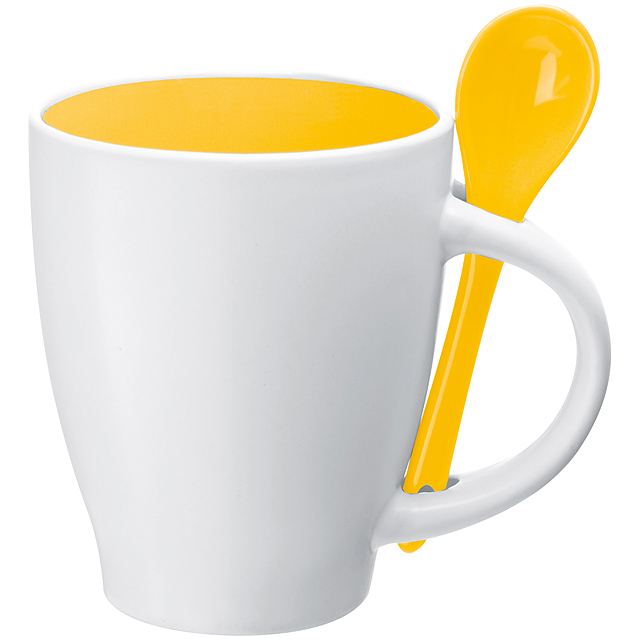 Keramická šálek - žlutá