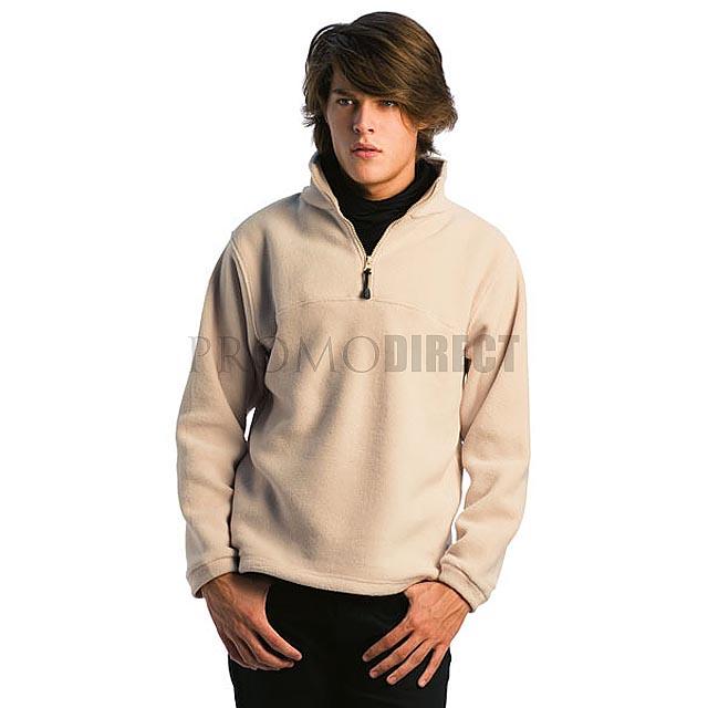 B&C - pánská fleece mikina - khaki
