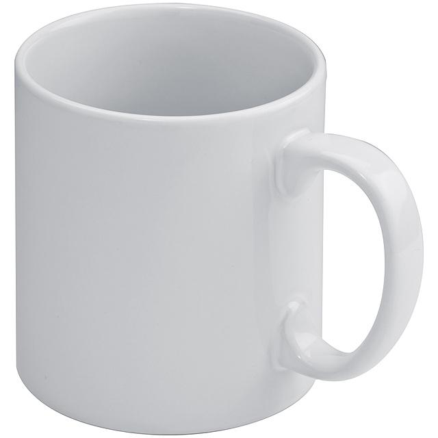 Keramický hrnek na kávu - bílá