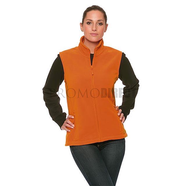 Russell Europe - dámská fleecová vesta se zipem - černá
