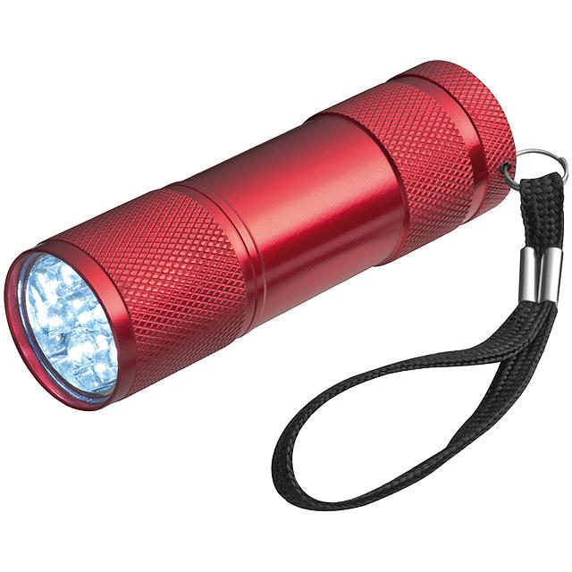 Svítilna s 3 bateriemi v balení - červená