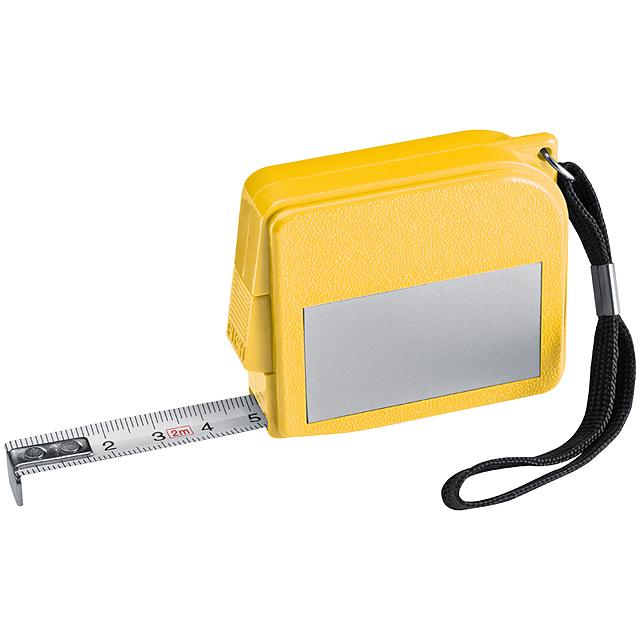 Dvoumetrový svinovací metr - žlutá