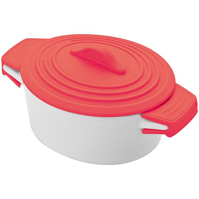 Porcelánová miska - červená