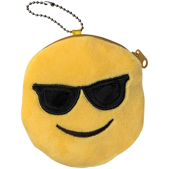 Emoji taška se zipem - žlutá