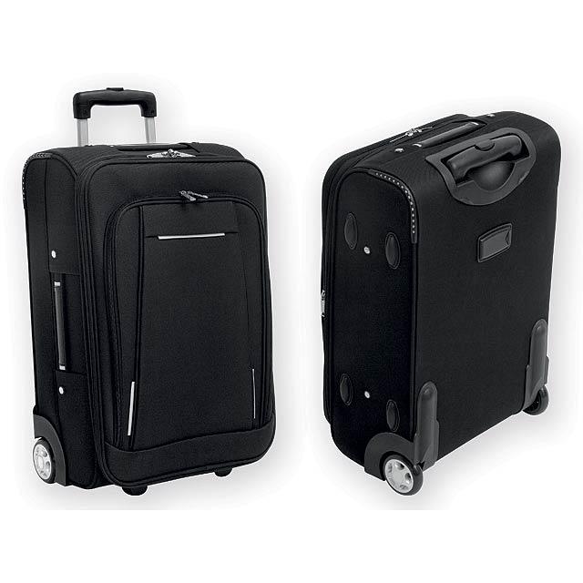 TOBAGO polyesterový kufr na kolečkách, 600D a EVA, Šedá - šedá