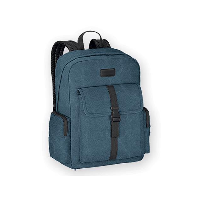 EPI batoh na notebook z bavlněného plátna (kanvas), Modrá - modrá