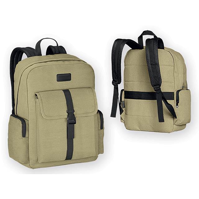 EPI batoh na notebook z bavlněného plátna (kanvas), Camel (Velbloudí hně - hnědá