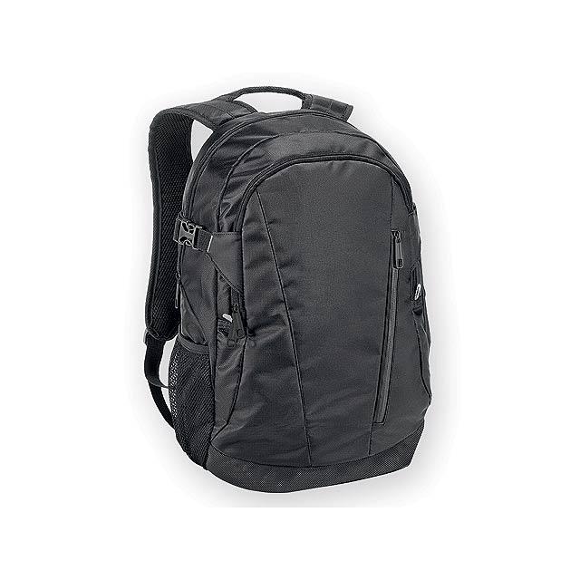 OLYMPIA polyesterový batoh na notebook, 840D, Černá - černá