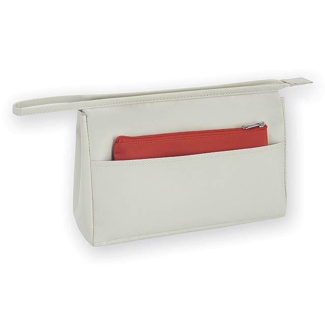 MOLVENA kosmetická taška, mikrovlákno, Červená - červená
