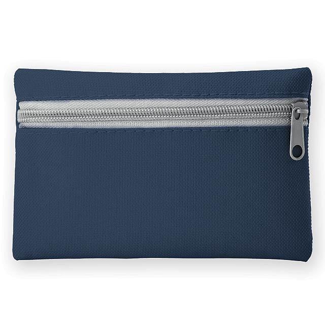 DURHAM polyesterové multifunkční pouzdro s kapsou na klíče, 600D, Modrá - modrá