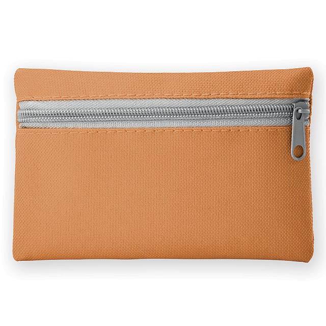 DURHAM polyesterové multifunkční pouzdro s kapsou na klíče, 600D, Oranžová - oranžová